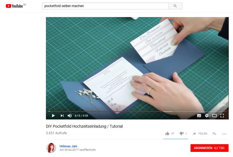 Diy Pocketfold Karten Selber Machen Frau Praktisch