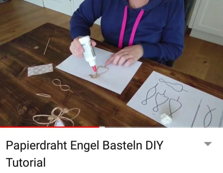 Papierdraht Engel Selber Basteln Mit Vorlage Frau Praktisch